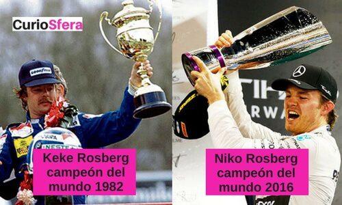 Nico y Keke Rosberg campeones del mundo F1