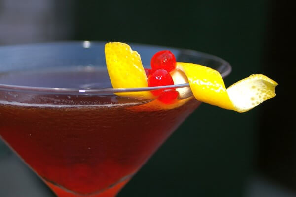 como preparar Cocktail Manhattan