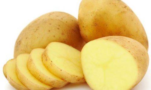 Rodajas patata o pepino quemaduras sol